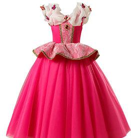 Roze prinsessenjurk - kleine vlinders