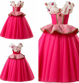 Roze prinsessenjurk -  kleine vlinders 104/110, 116, 122/128, 134/140, 146/152
