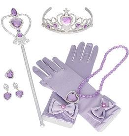 Prinses 6-delig accessoire set - lila