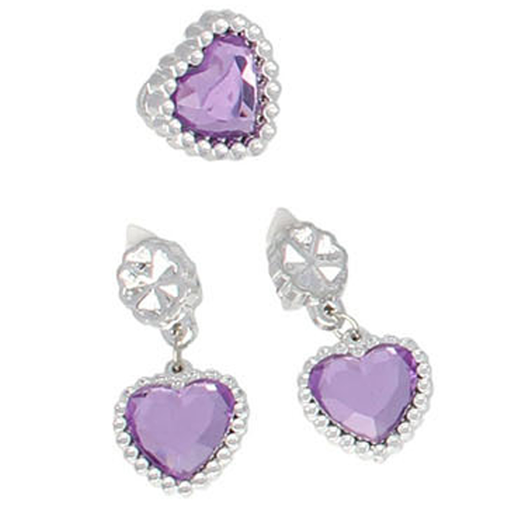 Prinsessen 6-delig accessoire set - lila