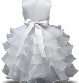 Prinsessenjurk - witte feestjurk maat 86/92, 98/104, 110/116, 122/128