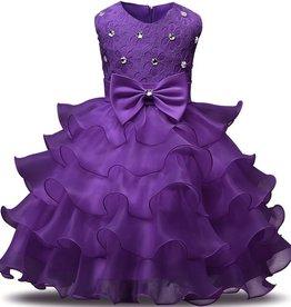Prinsessenjurk - paarse feestjurk