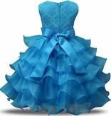 Prinsessenjurk - blauwe feestjurk maat 86/92, 98/104, 110/116, 122/128