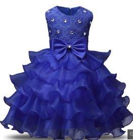Prinsessenjurk - blauwe feestjurk