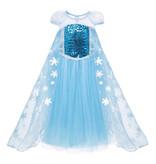Frozen Elsa prinses verkleedjurk - luxe ijsster 98/104, 110, 116/122, 128/134 , 140,146
