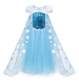 Frozen Elsa luxe verkleedjurk + gratis schoolset