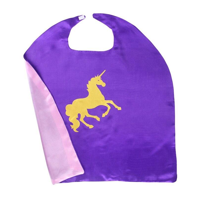 Unicorn eenhoorn paarse  cape + masker  - one size