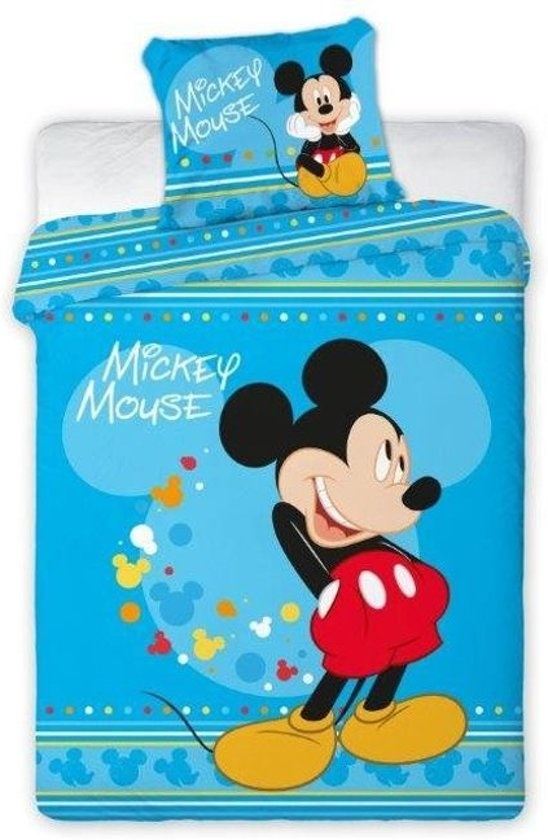 Mickey Dekbedovertrek Mickey Mouse  - fleece 160 x 200 cm