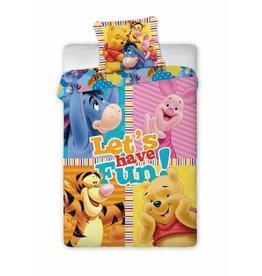 Winnie Winnie the Pooh Dekbedovertrek -  Let's have fun!