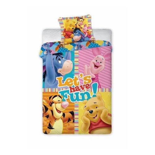 Winnie Winnie the Pooh Dekbedovertrek -  Let's have fun! 160 x 200 cm