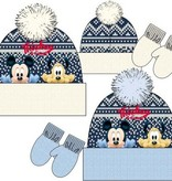 Disney Mickey Mouse fleece muts + wanten maat 48, 50