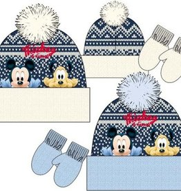 Disney Mickey Mouse fleece muts + wanten