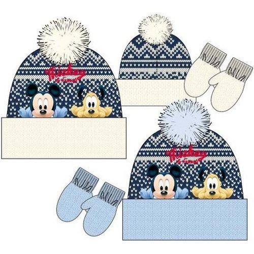 Disney Mickey Mouse fleece muts + wanten maat 48, 50