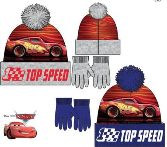 Disney Cars fleece wintermuts + handschoenen  maat 52, 54