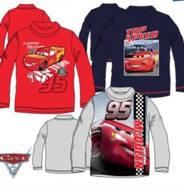 Disney Cars shirt met col + gratis Disney Cars sleutelhanger