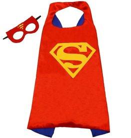 Superheld/Superman cape + masker - rood