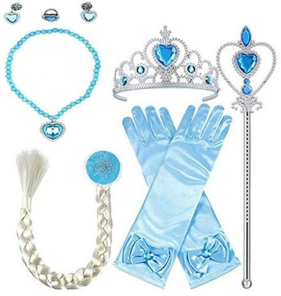 Prinsessen 7-delig blauw accessoireset