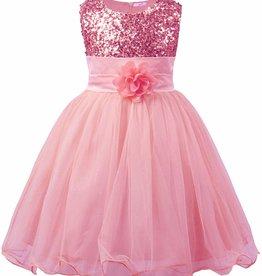 Prinsessenjurk - roze feestjurk - communiejurk