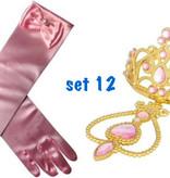 Prinsessenjurk - lange champagne kleurige feestjurk - communiejurk maat 110/116, 122/128, 134/140, 152, 158/164