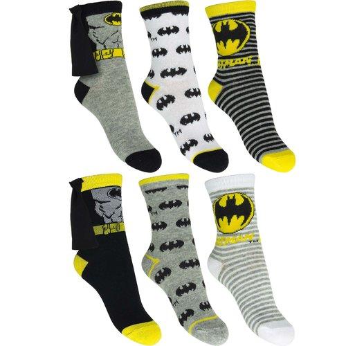 Batman Batman 6 paar sokken mt 23/26, 27/30, 31/34