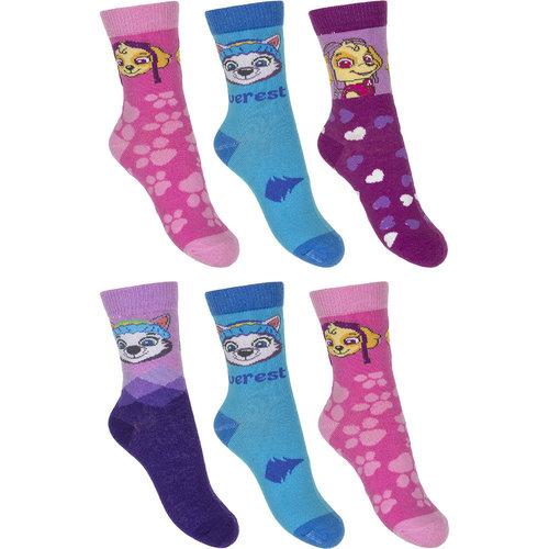 Paw Patrol sokken 6 paar  27/30, 31/34