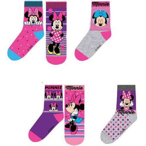 Minnie Mouse sokken 6 paar 23/26, 27/30, 31/34
