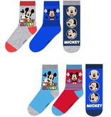 Mickey Mouse 6 paar sokken mt 23/26, 27/30, 31/34