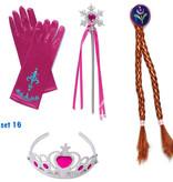 Frozen Anna en Elsa jurk + gratis Frozen Shopping Bag 86/92, 98/104, 110, 116/122, 128/134
