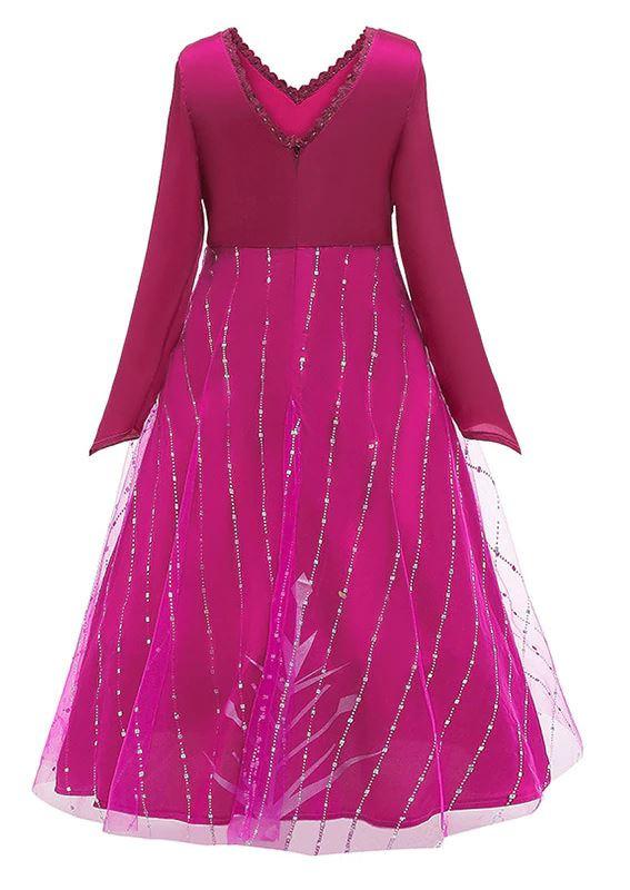 Frozen 2 Elsa roze verkleedjurk  86/92, 98/104, 110, 116/122, 128/134 , 140