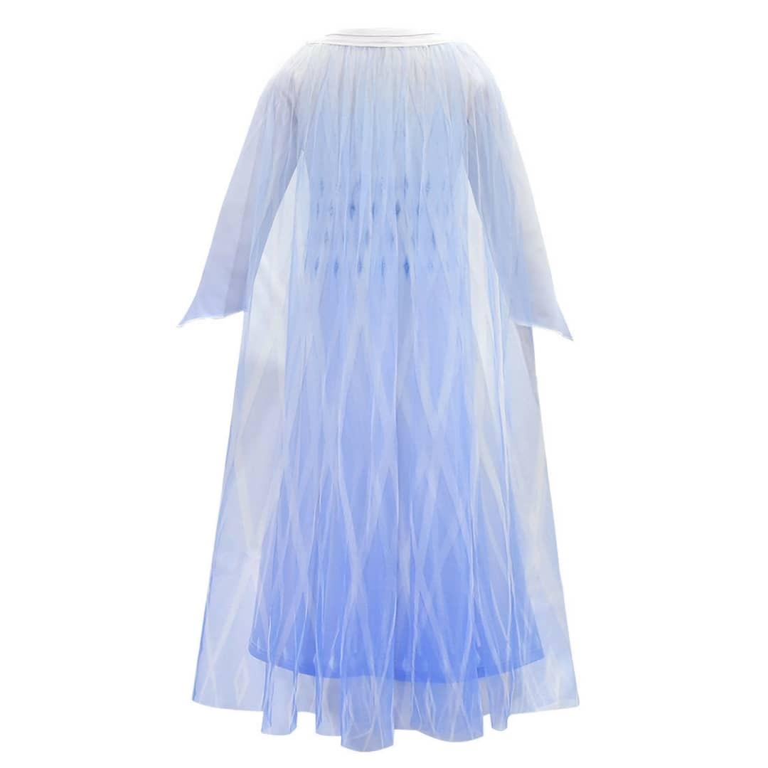 Frozen 2 Elsa verkleedjurk - cape + gratis Frozen gymtas  98/104, 110, 116/122, 128/134 ,