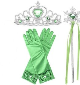 Frozen prinsessen accessoire set - groen