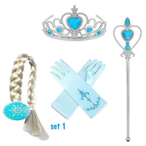 Frozen Anna en Elsa jurk + gratis Frozen pluchen rugzak maat 98/104, 110, 116/122, 128/134