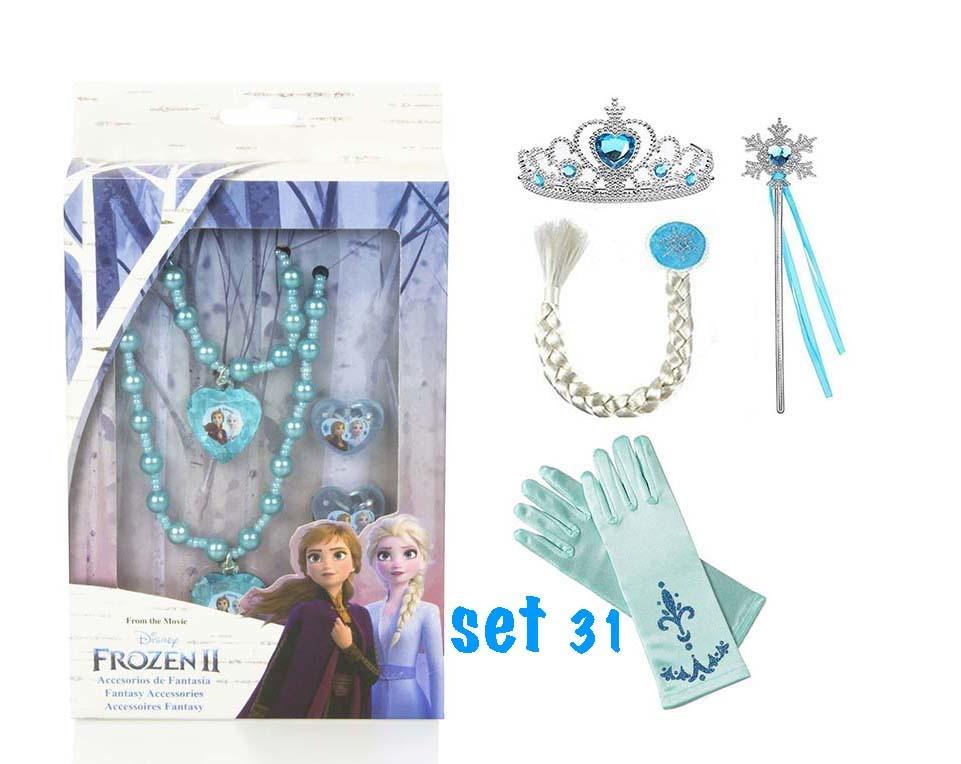 Frozen Anna en Elsa jurk + gratis Frozen schoolset