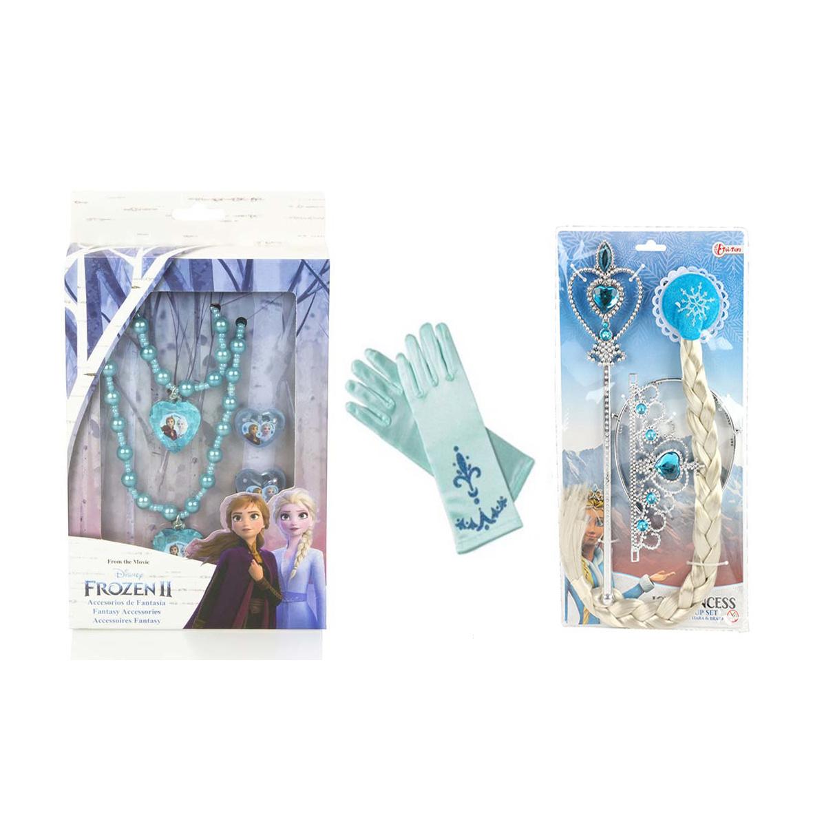 Prinses 8-delig accessoire set - blauw