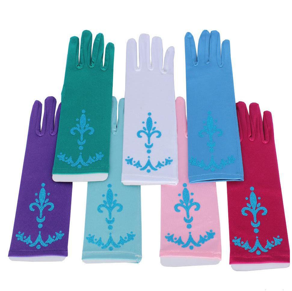 Prinsessen handschoenen - roze, blauw, paars, groen
