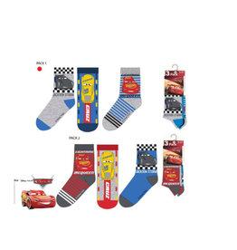 Disney Cars 6 paar sokken +  Gratis Cars Gymtas