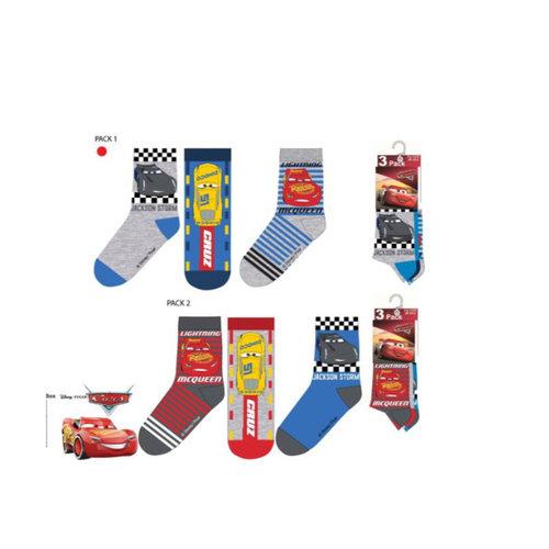Disney Cars 6 paar sokken + Gratis Cars Gymtas mt 23/26, 27/30, 31/34