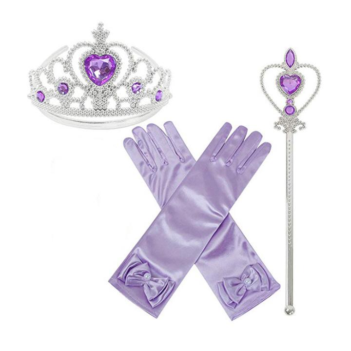 Frozen prinsessen accessoire set - paars / lilassoire set - lila
