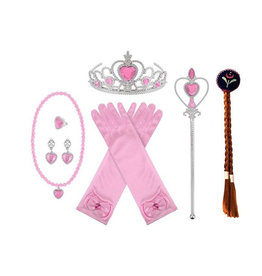 Prinsessen 7-delig roze accessoireset