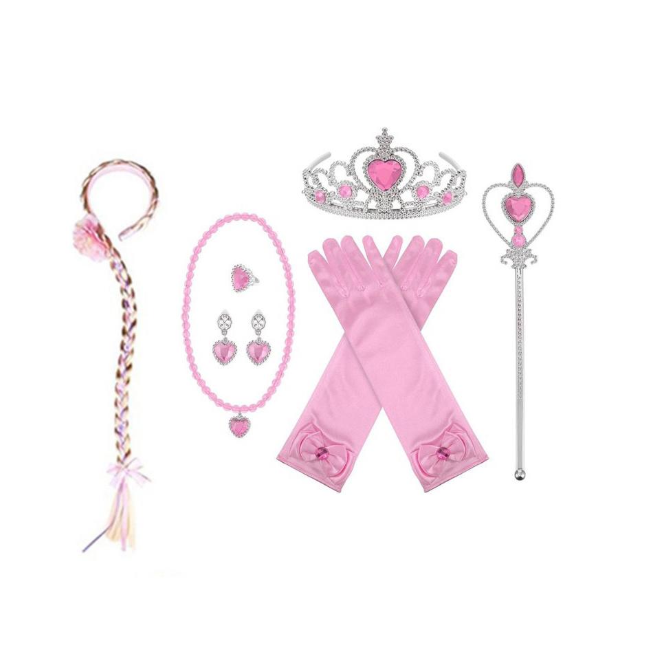 Prinses 7-delig accessoire set - roze
