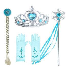 Frozen Elsa 4-delig accessoireset  + gratis Frozen gymtas
