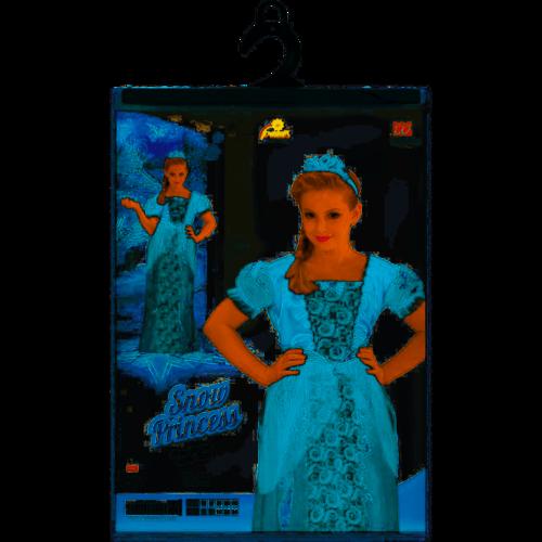 Widmann Prinsessenjurk - Sneeuwprinses + Tiara 4-5 jaar