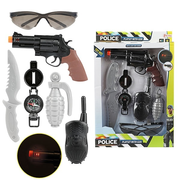 Toi-Toys politieset met geweer + gratis 2 x Disney placemat