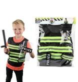Toi-Toys Politieset met hesje schild en wapenstok + gratis 2 x Disney placemat