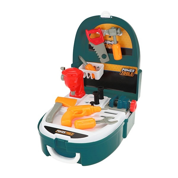 Toi-Toys gereedschapsset in rugzak blauw 32 cm + gratis 2 x Disney placemat
