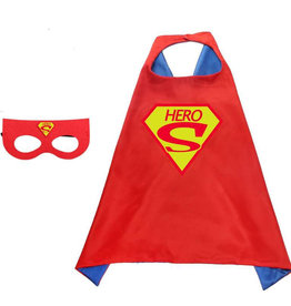 Superheld/Superman Hero rode cape + masker