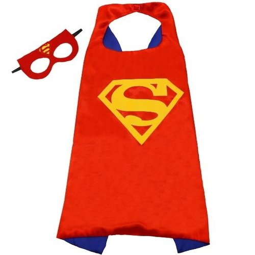 Superheld/Superman Hero rode cape + masker  - verkleedpak - one size