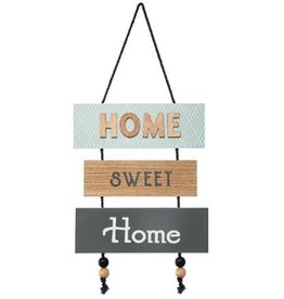 Atmosphera Créateur d'intérieur® Wanddecoratie - tekstbord - wandbord - Home Sweet Home - hanger - 23,5 x 0,8 x 50 cm (lxbxh)