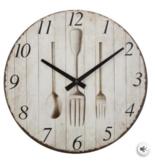 Atmosphera Créateur d'intérieur®  Atmosphera Créateur d'intérieur® Wandklok Cutlery - 28 cm - Woonkamer Klok Industrieel - Landelijke wandklok - Keukenklok - Vintage Klok