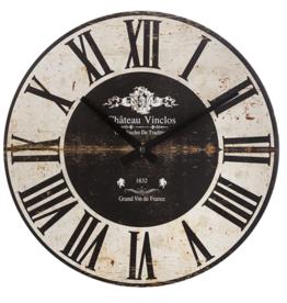 Atmosphera Créateur d'intérieur® Wandklok Cafe - 28 cm - Woonkamer Klok Industrieel - Landelijke wandklok - Keukenklok - Vintage Klok